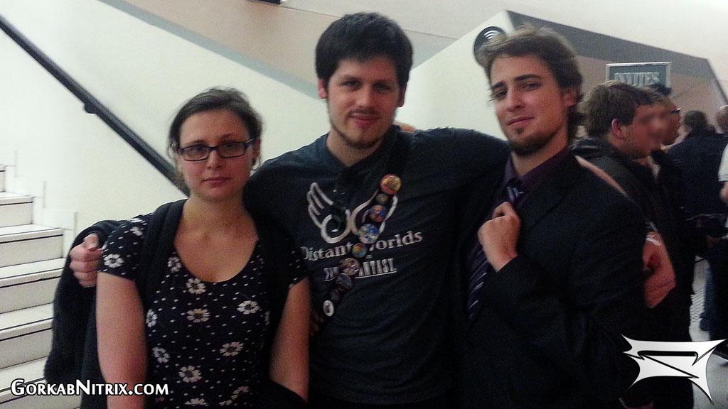De gauche à droite : Émeline, moi et Loïc